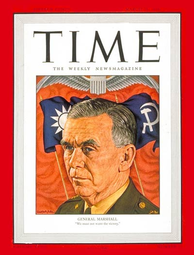 TIME Magazine Cover: General George C. Marshall -- Mar. 25, 1946