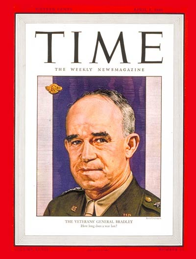TIME Magazine Cover: General Omar Bradley -- Apr. 1, 1946