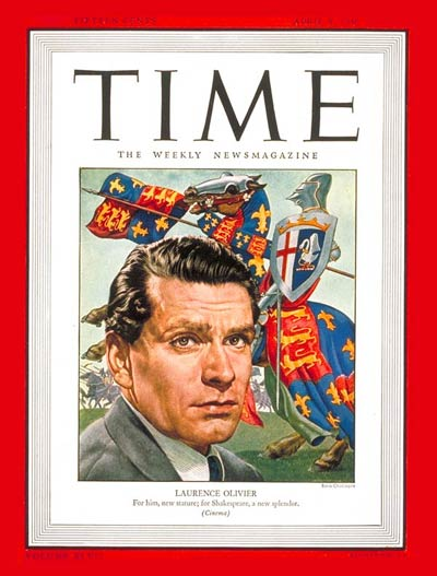 TIME Magazine Cover: Laurence Olivier -- Apr. 8, 1946