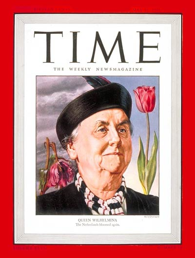 TIME Magazine Cover: Queen Wilhemina -- May 13, 1946