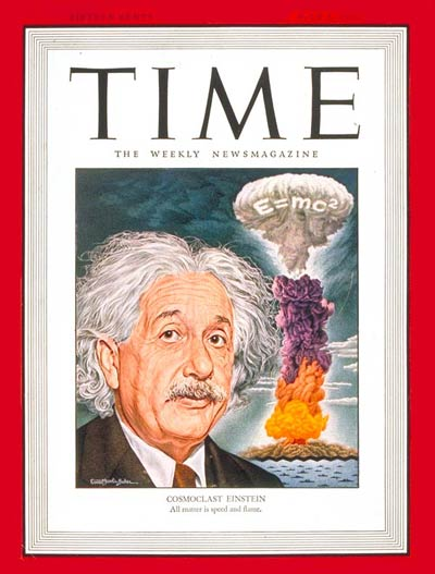 Scientist  Albert Einstein and the atom bomb