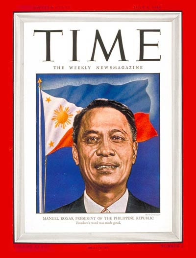 TIME Magazine Cover: Manuel A. Roxas -- July 8, 1946