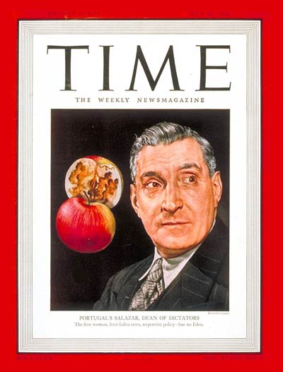 TIME Magazine Cover: Antonio Salazar - July 22, 1946 - Portugal
