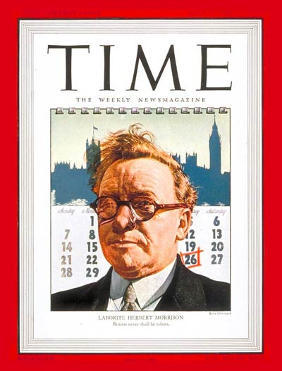 TIME Magazine Cover: Herbert Morrison -- July 29, 1946