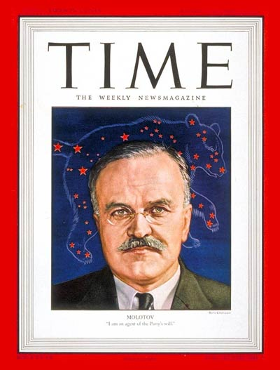 TIME Magazine Cover: Viacheslav Molotov -- Aug. 19, 1946