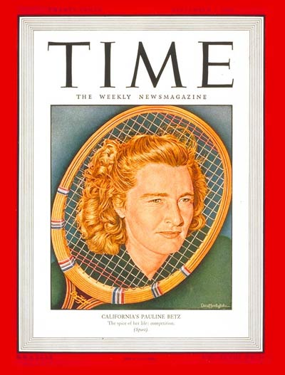 TIME Magazine Cover: Pauline Betz -- Sep. 2, 1946