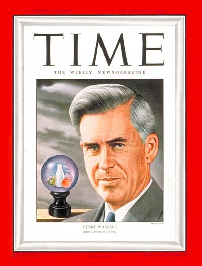 TIME Magazine Cover: Henry Wallace -- Sep. 30, 1946