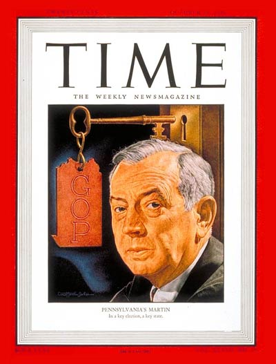 TIME Magazine Cover: Governor Ed Martin -- Oct. 28, 1946