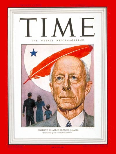 TIME Magazine Cover: Charles Francis Adams -- Nov. 4, 1946