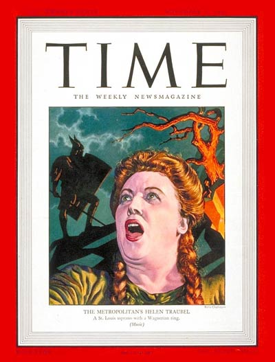 TIME Magazine Cover: Helen Traubel -- Nov. 11, 1946