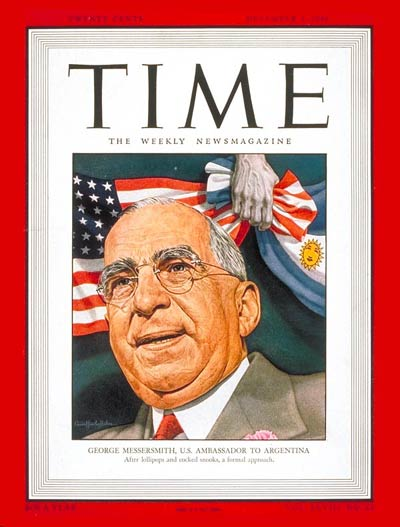 TIME Magazine Cover: George Messersmith -- Dec. 2, 1946