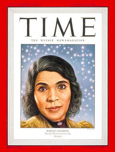 TIME Magazine Cover: Marian Anderson -- Dec. 30, 1946