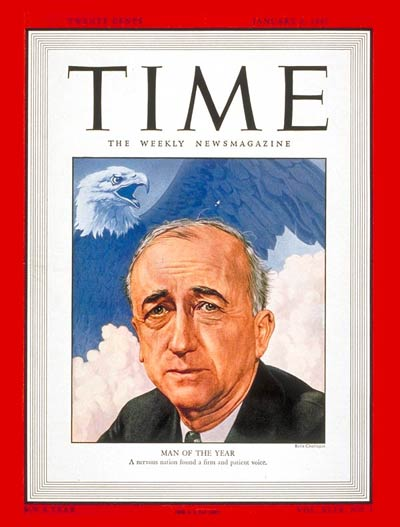 TIME Magazine Cover: James F. Byrnes, Man of the Year -- Jan. 6, 1947