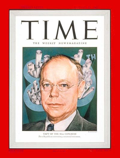 TIME Magazine Cover: Sen. Robert A. Taft -- Jan. 20, 1947