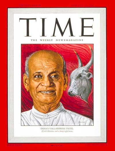 TIME Magazine Cover: Vallabhbhai Patel -- Jan. 27, 1947