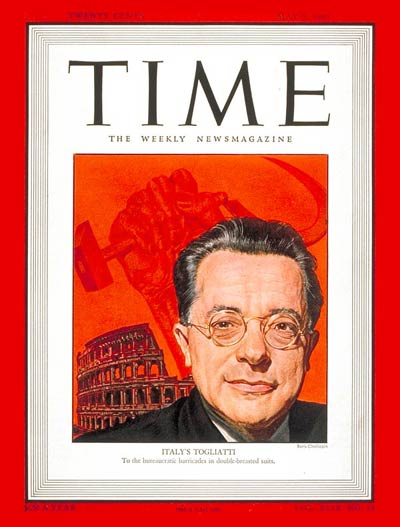 TIME Magazine Cover: Palmiro Togliatti -- May 5, 1947