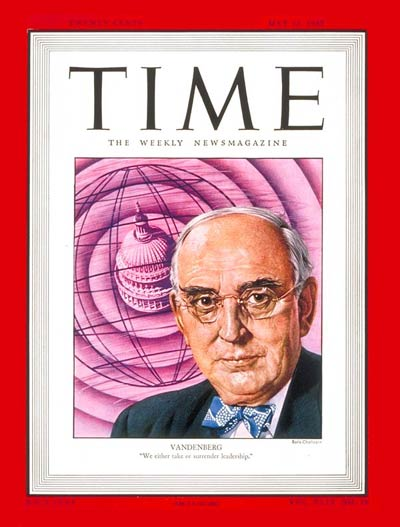 TIME Magazine Cover: Sen. Arthur Vandenberg -- May 12, 1947