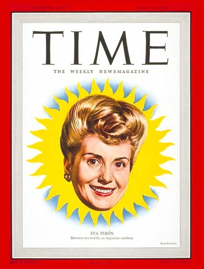 TIME Magazine Cover: Eva Peron -- July 14, 1947