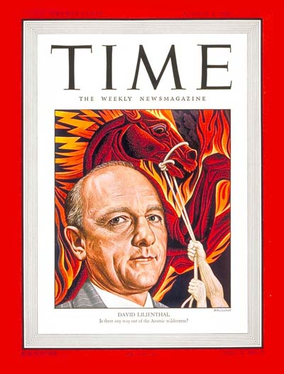 TIME Magazine Cover: David Lilienthal -- Aug. 4, 1947