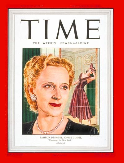TIME Magazine Cover: Sophie Gimbel -- Sep. 15, 1947