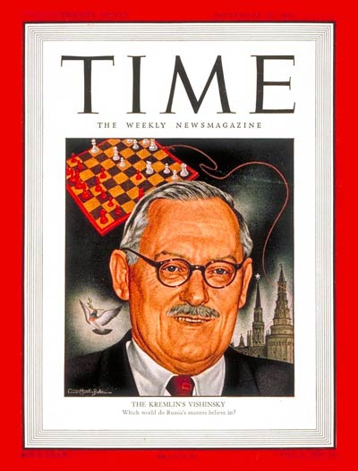 TIME Magazine Cover: Andrei Y. Vishinsky -- Sep. 29, 1947
