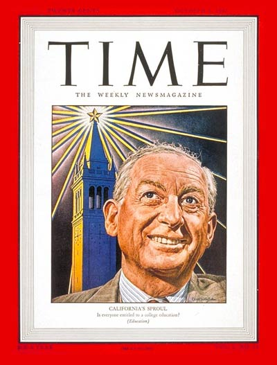 TIME Magazine Cover: Robert G. Sproul -- Oct. 6, 1947