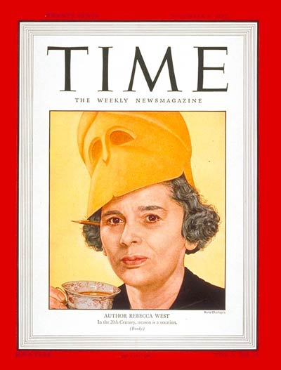 TIME Magazine Cover: Rebecca West - Dec. 21, 21 - Journalism ... | title | magazine west