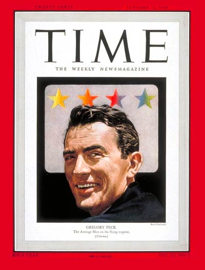 TIME Magazine Cover: Gregory Peck -- Jan. 12, 1948