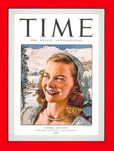 TIME Magazine Cover: Barbara Ann Scott -- Feb. 2, 1948