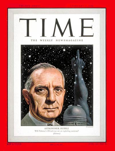 TIME Magazine Cover: Edwin P. Hubble -- Feb. 9, 1948