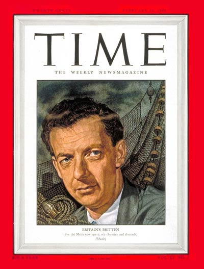 TIME Magazine Cover: Benjamin Britten -- Feb. 16, 1948
