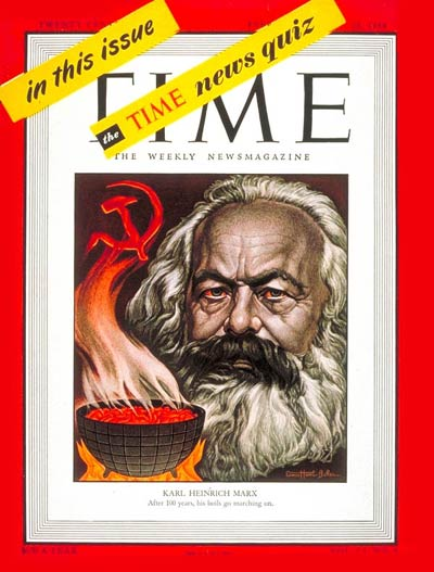 TIME Magazine Cover: Karl Marx -- Feb. 23, 1948
