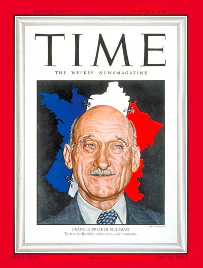 TIME Magazine Cover: Robert Schuman -- Mar. 1, 1948