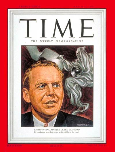 TIME Magazine Cover: Clark Clifford -- Mar. 15, 1948
