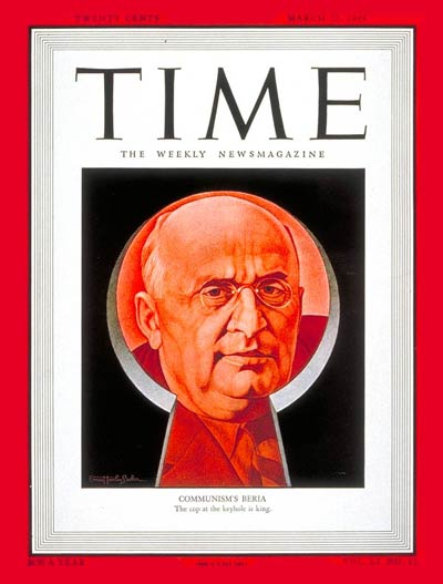 TIME Magazine Cover: Lavrenty Beria -- Mar. 22, 1948