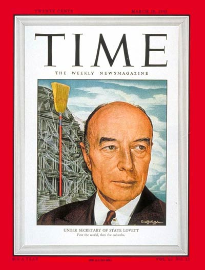 TIME Magazine Cover: Robert A. Lovett -- Mar. 29, 1948