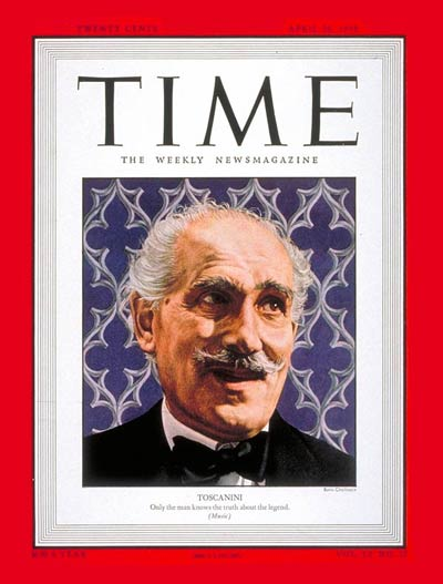 TIME Magazine Cover: Arturo Toscanini -- Apr. 26, 1948