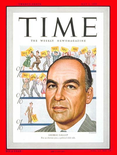 Image result for george gallup cover time