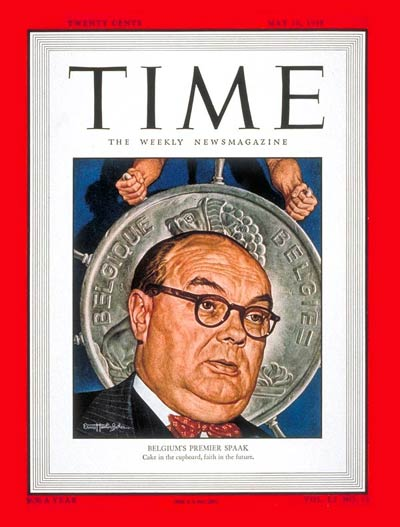 TIME Magazine Cover: Paul-Henri Spaak -- May 10, 1948