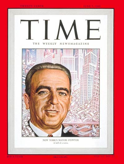 TIME Magazine Cover: Mayor William O'Dwyer -- June 7, 1948