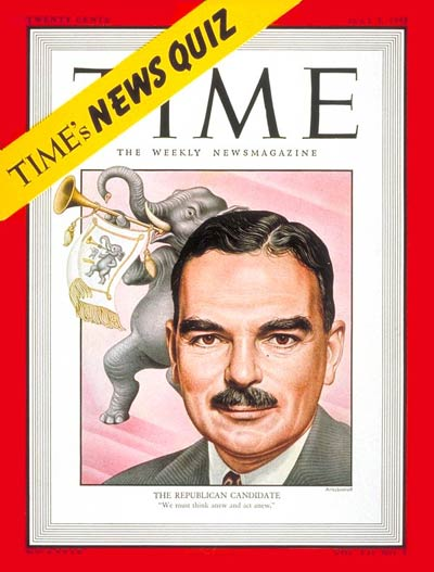 TIME Magazine Cover: Thomas E. Dewey -- July 5, 1948