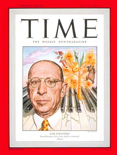 TIME Magazine Cover: Igor Stravinsky -- July 26, 1948