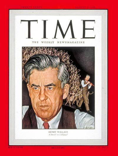 TIME Magazine Cover: Henry Wallace -- Aug. 9, 1948