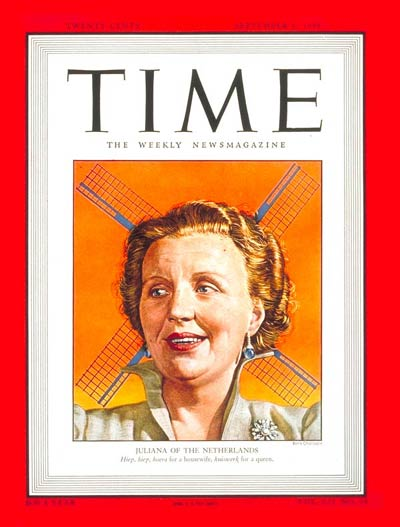 TIME Magazine Cover: Queen Juliana -- Sep. 6, 1948