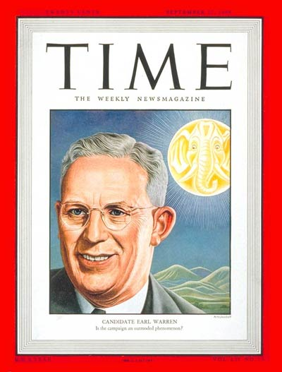 TIME Magazine Cover: Earl Warren -- Sep. 27, 1948