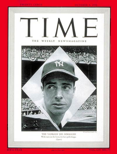TIME Magazine Cover: Joe DiMaggio -- Oct. 4, 1948