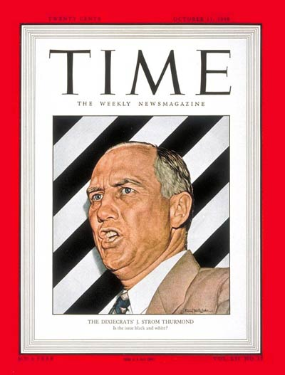 TIME Magazine Cover: J. Strom Thurmond -- Oct. 11, 1948