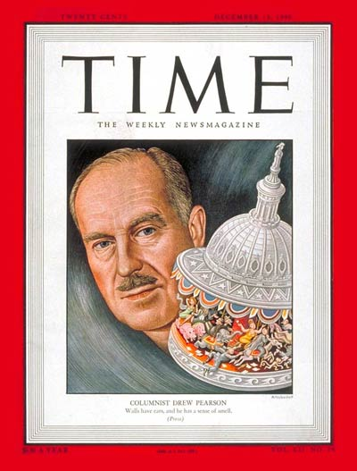 TIME Magazine Cover: Drew Pearson -- Dec. 13, 1948