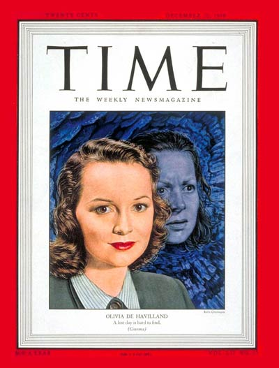 TIME Magazine Cover: Olivia de Havilland -- Dec. 20, 1948