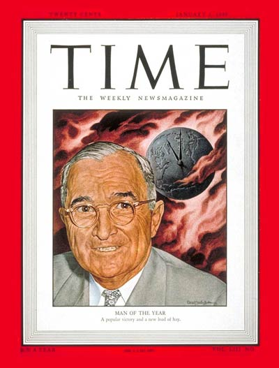 TIME Magazine Cover: Harry S. Truman, Man of the Year -- Jan. 3, 1949